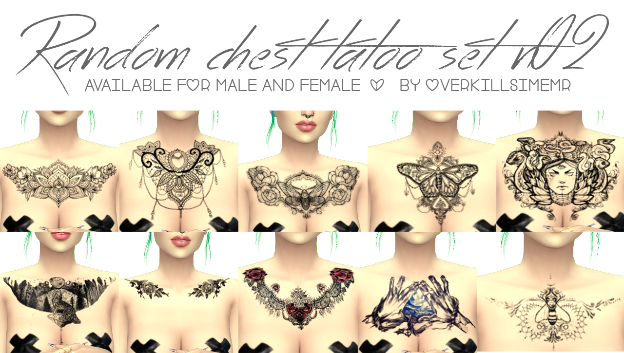 Random Chest Tattoo Set n02 by  Overkill Simmer