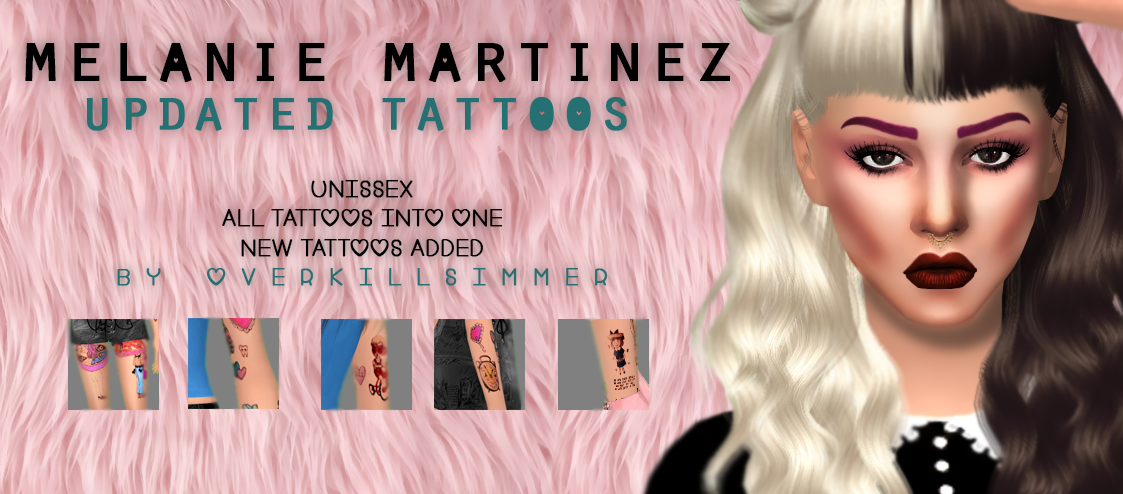 Melanie Martinez Updated Tattoos by Overkill Simmer
