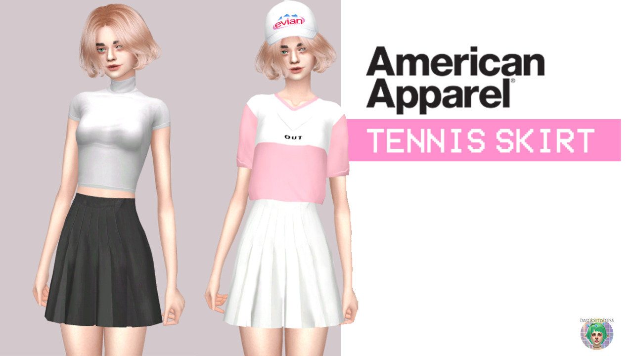 American Apparel Tennis Skirts by Twinksimstress