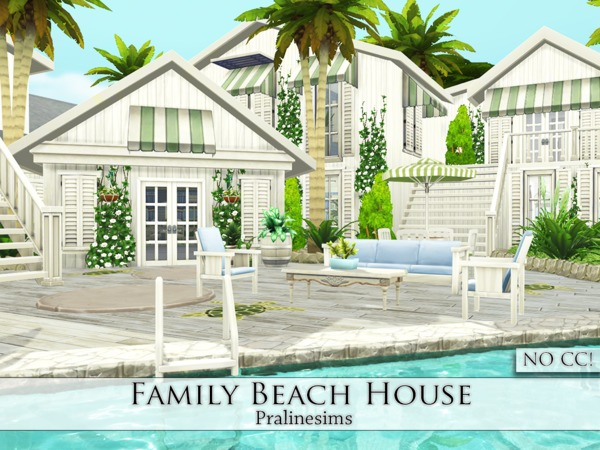 Family Beach House by Pralinesims