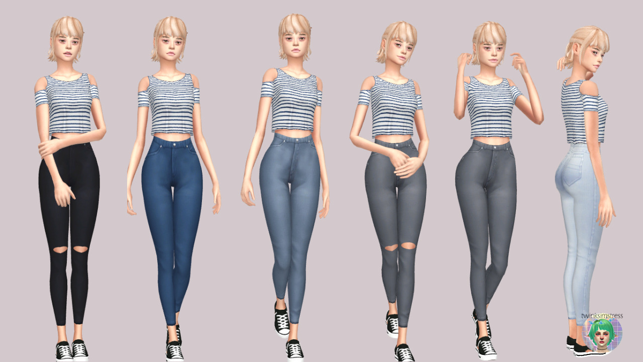 Maxis Match High Waisted Bottoms by Twinksimstress