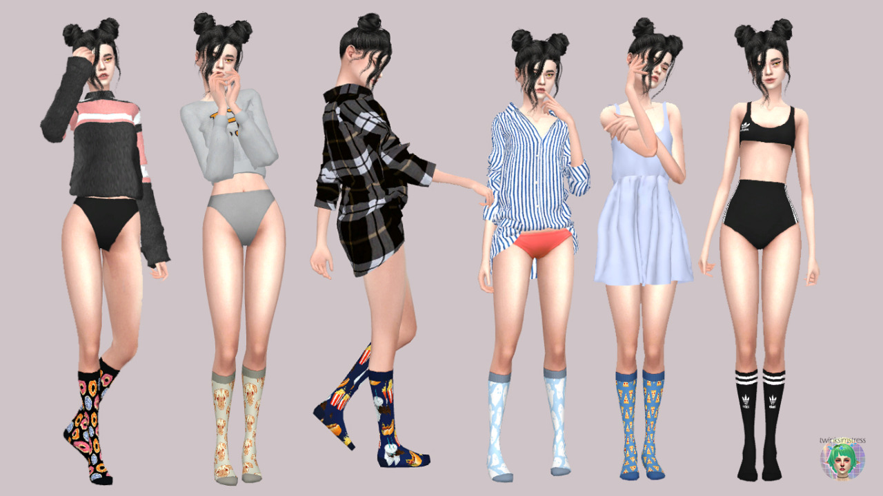 Below Knee Socks by Twinksimstress