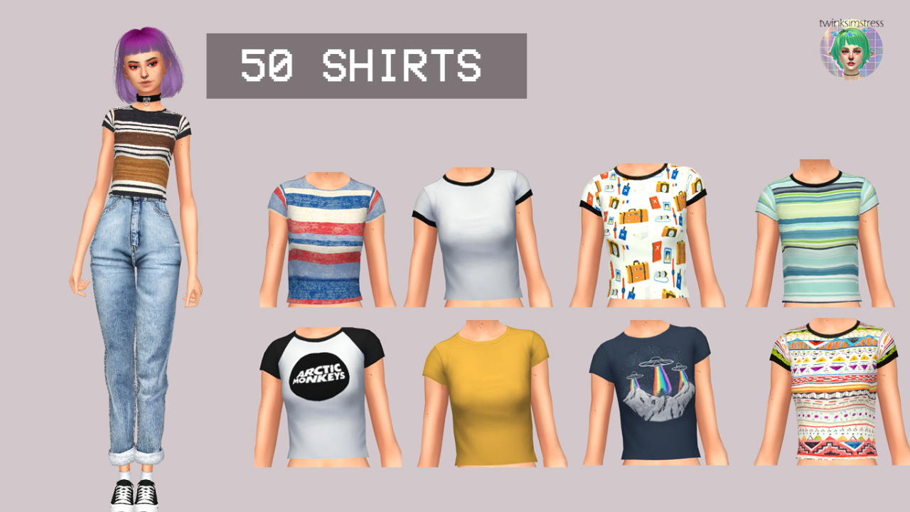 50 SHIRTS PART 2 by Twinksimstress