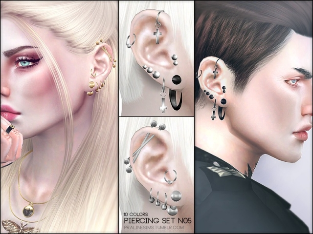 Piercing Set N05 by Pralinesims