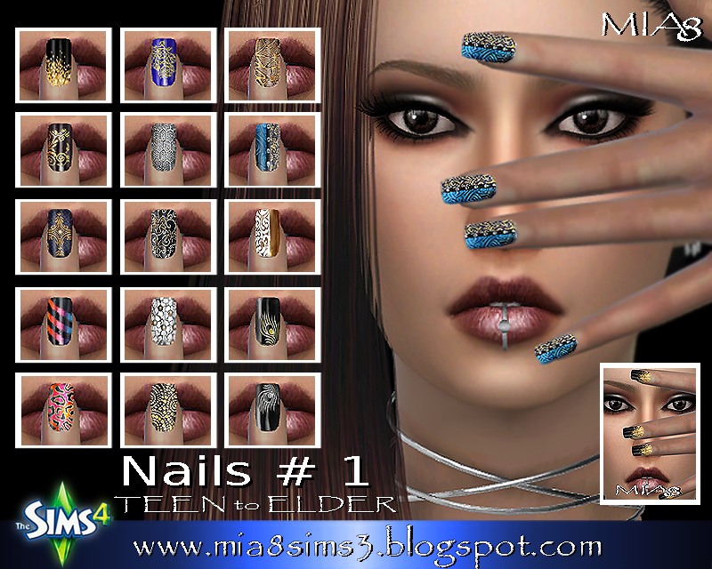 Nails # 1 (Mix) by Mia8