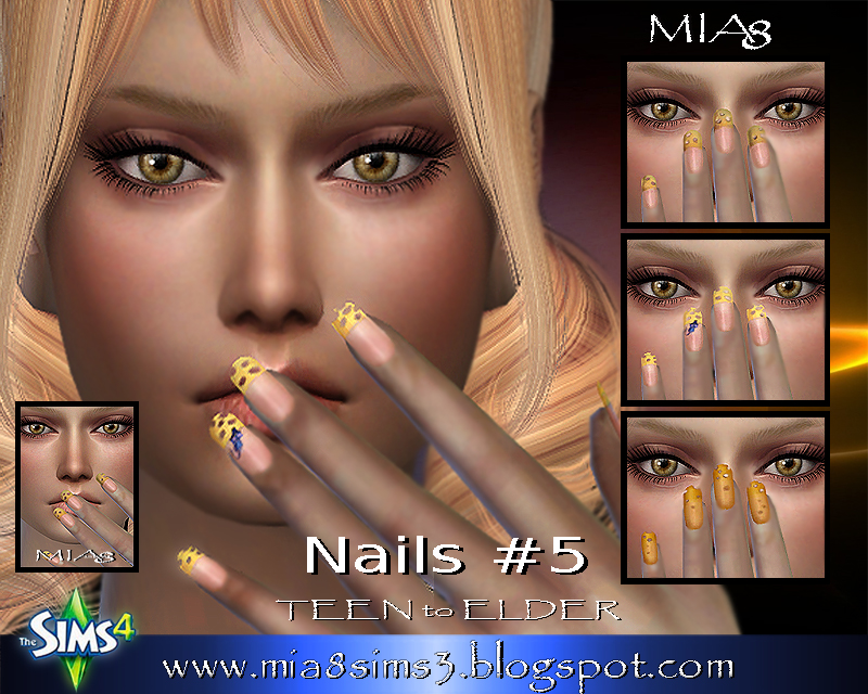 Nails # 5 (Cheese-nails) by Mia8
