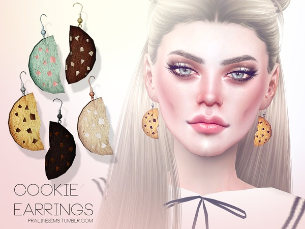 Cookie Earrings by Pralinesims