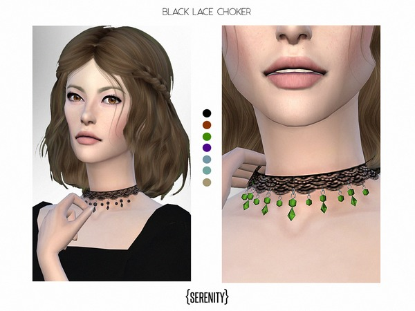 Black Lace Choker by serenity-cc