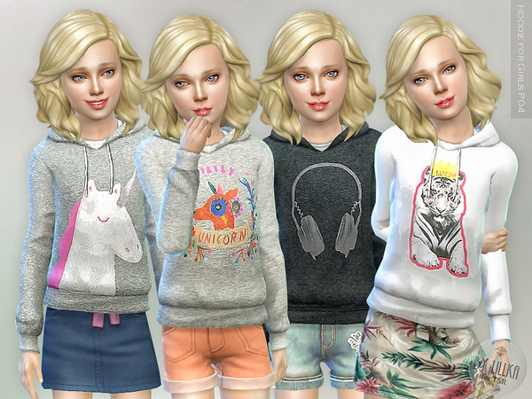 Hoodie for Girls P04 by lillka