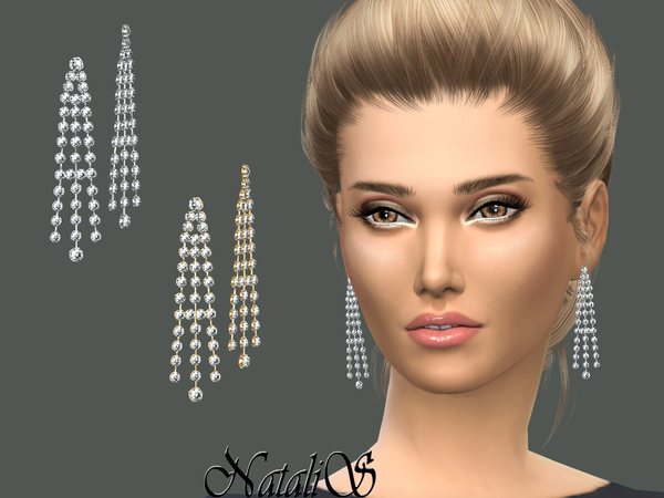 NataliS_Sparkling chandelier earrings