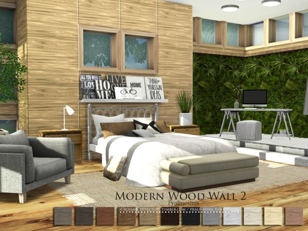 Modern Wood Wall 2 by Pralinesims