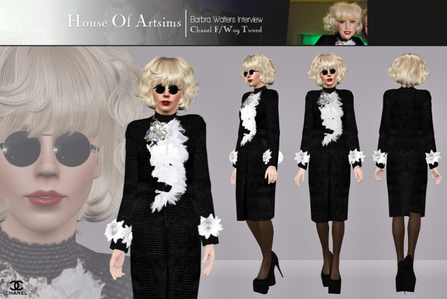 Barbra Walters Interview  Chanel F/W09 Tweed by ArtSims