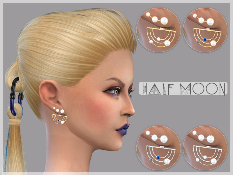 Half Moon Earrings by GiuliettaSims