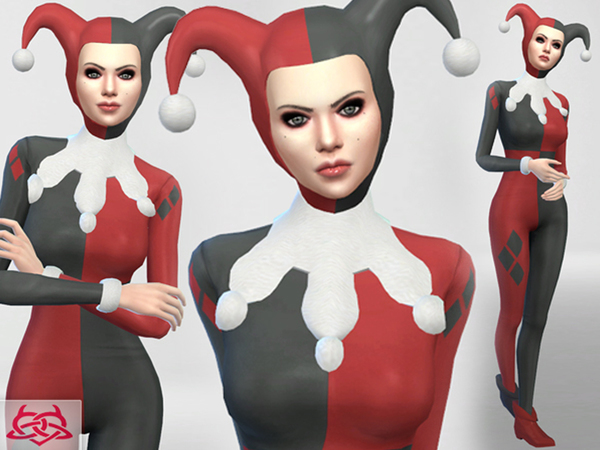Set Hat/Outfit/Shoes Harley Quinn by Colores Urbanos