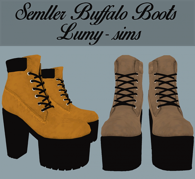 Semller Buffalo Boots by Lumy-sims