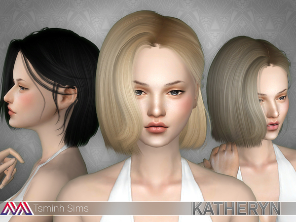 Katheryn (Hair 19 Set) by TsminhSims