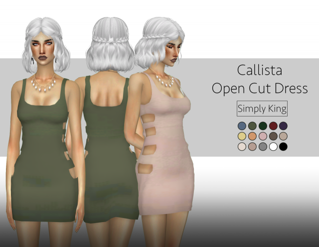 CALLISTA OPEN CUT DRESS by Simply King