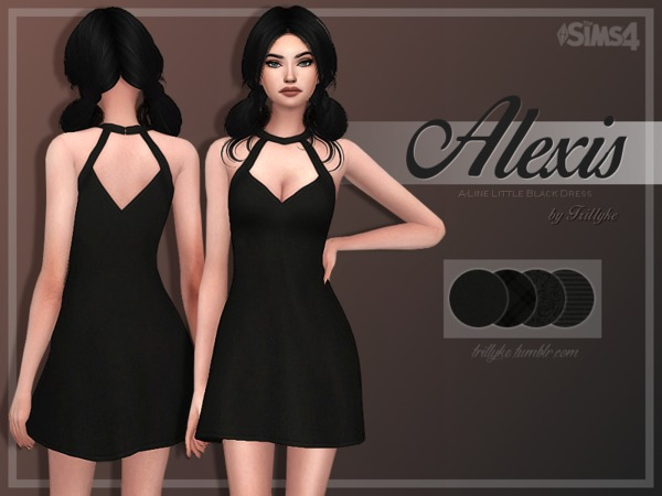 Trillyke - Alexis A-Line Little Black Dress
