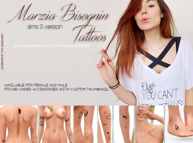 Marzia Bisognin Tattoos by sullivanwandy