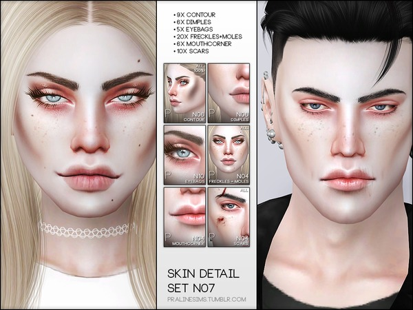 Skin Detail Kit N07 by Pralinesims