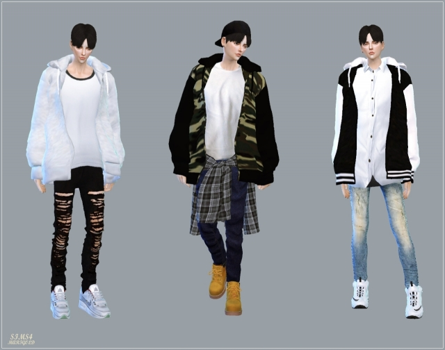 Male_Acc Loosefit Hood Jacket by marigold