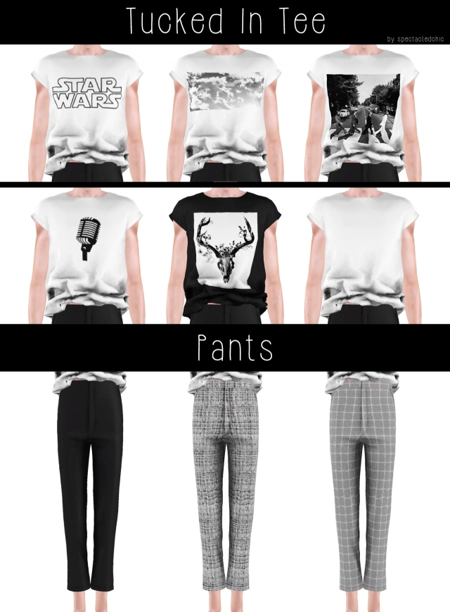 AM Tucked In Tee & Pants by Spectacledchic