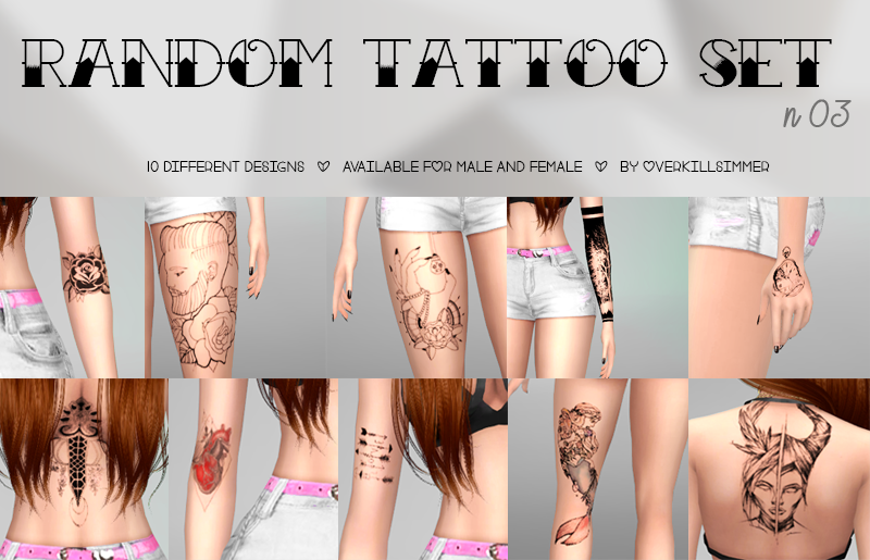 Random Tattoo Set n03 by Overkill Simmer