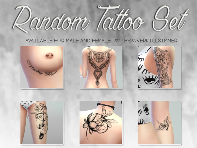 Random Tattoo Set - n2 by Overkill Simmer