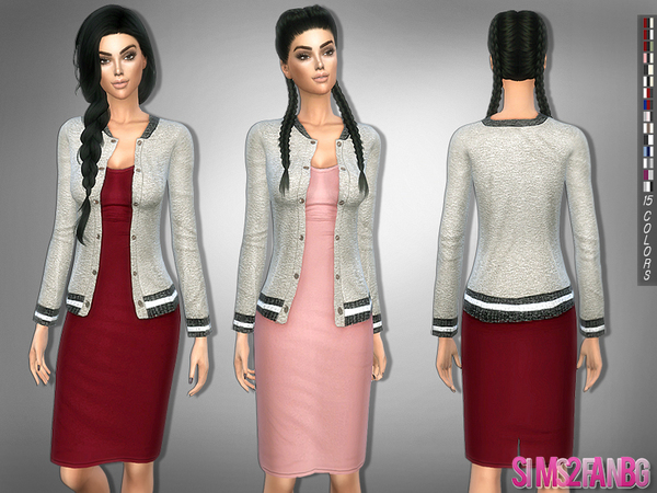 209 - Medium dress with jacket by sims2fanbg