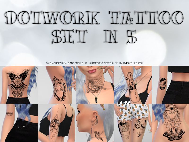 Dotwork Tattoo Set n5 by Overkill Simmer