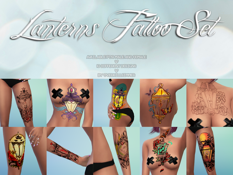 Lanterns Tattoo Set by Overkill Simmer