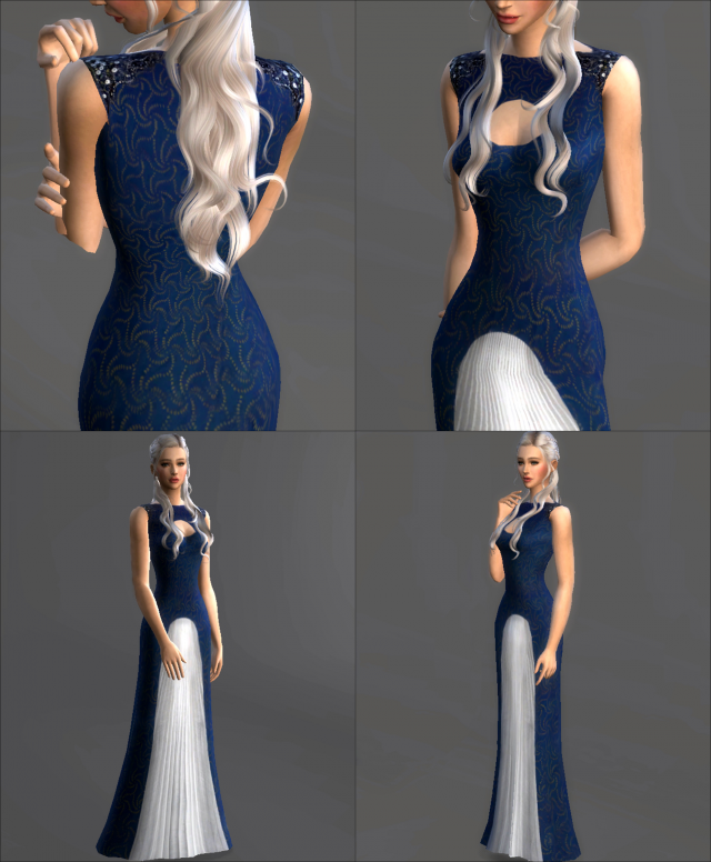 Game Of Thrones Collection Daenerys Targaryen Blue Cutout Dress от magnolianfarewell