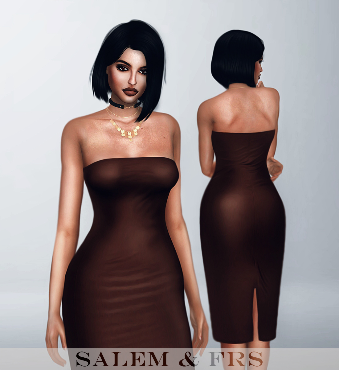 Bandeau Midi Dress by Salem & FRS