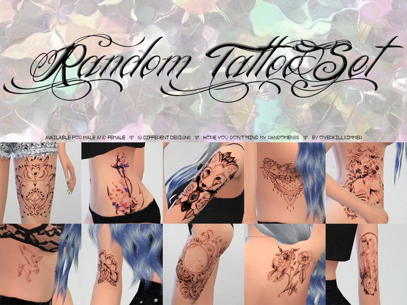 Random Tattoo Set by Overkill Simmer