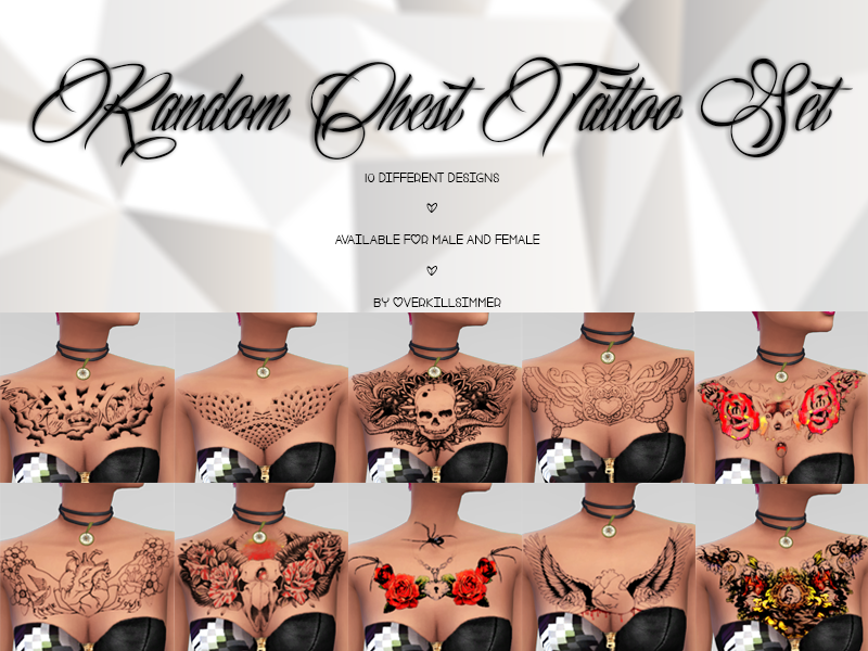 Random Chest Tattoo Set by  Overkill Simmer