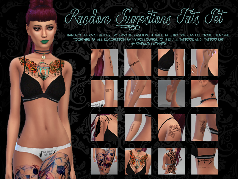 Random Suggestions Tats Set by Overkill Simmer