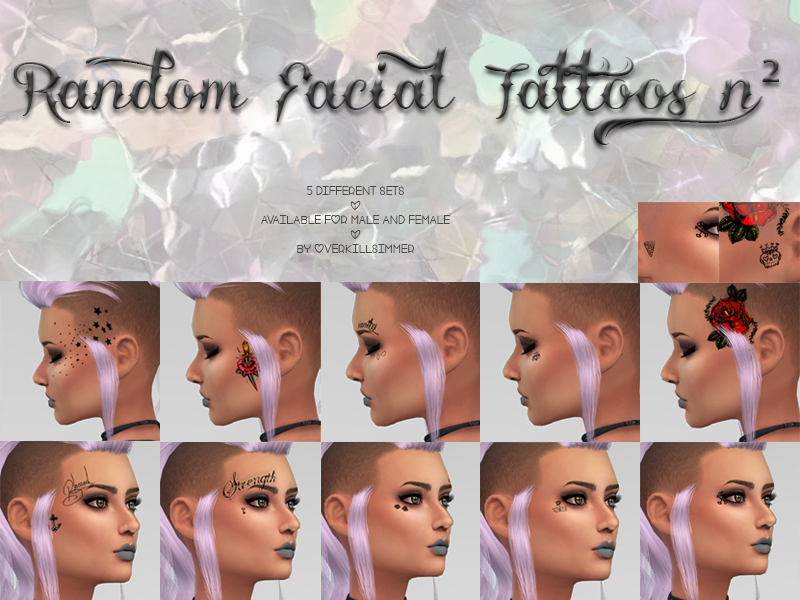 Random Facial Tattoos n2 by Overkill Simmer