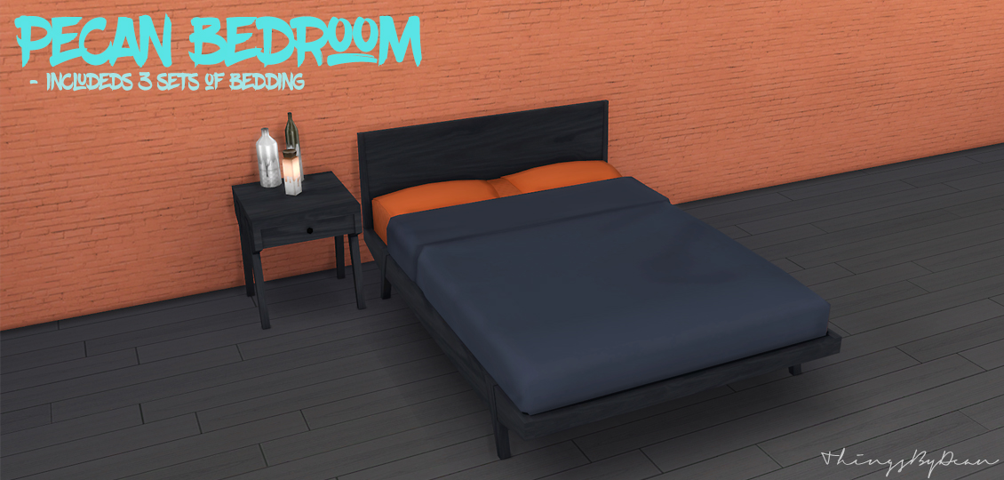 Pecan Bedroom Set by Dean