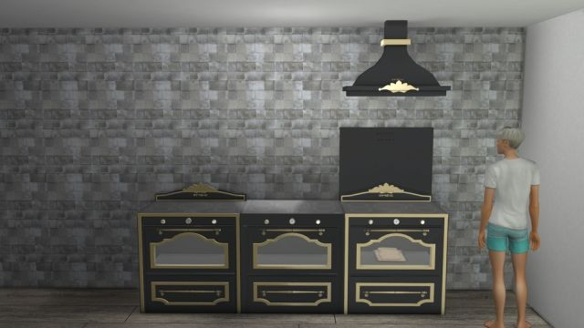 Stove with Hood by Minc78