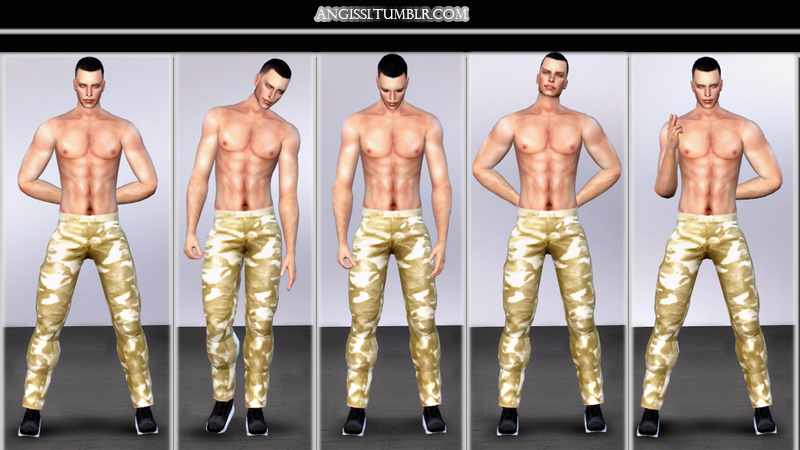Male poses pack - MAN by ANGISSI