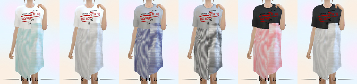 T-Shirt Dress by kiruluvnst