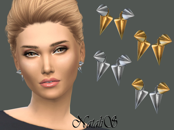 NataliS_Cone Front- Back Earrings