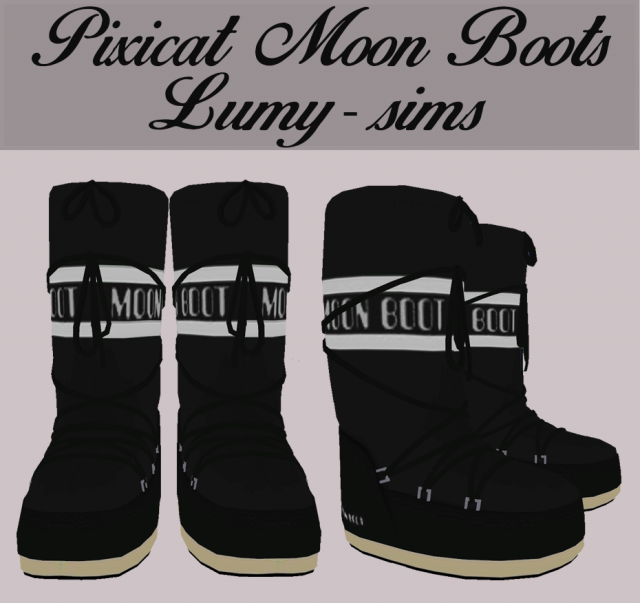 Pixicat Moon Boots by lumy-sims