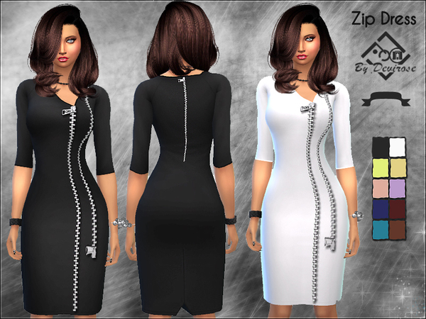Zip Dress by Devirose