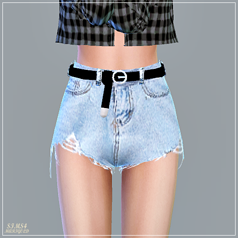Alpha Belt Hot Pants by Marigold