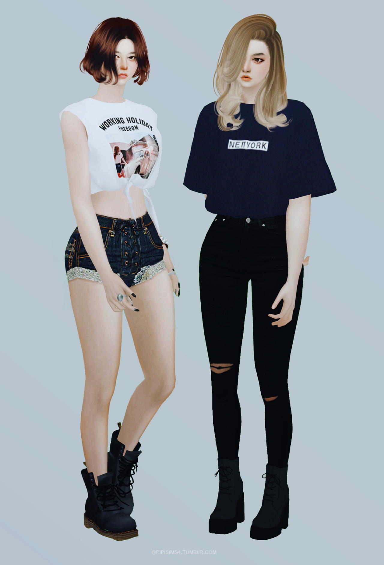 Girl pose set n1 by Pipisims4
