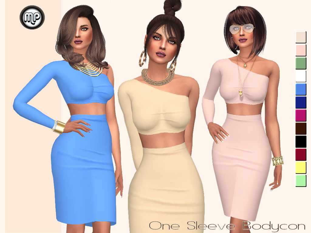 MP One Side Sleeve Bodycon by MartyP