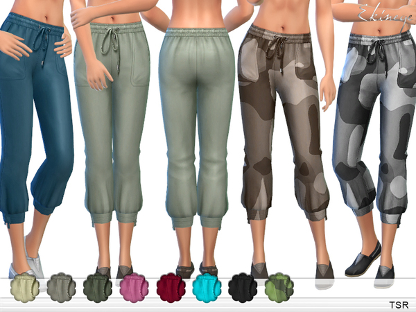 Linen-Blend Jogger Pants by ekinege
