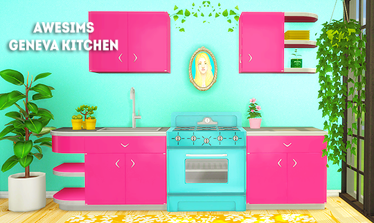 Awesims Geneva Kitchen Recolors by LinaCherie