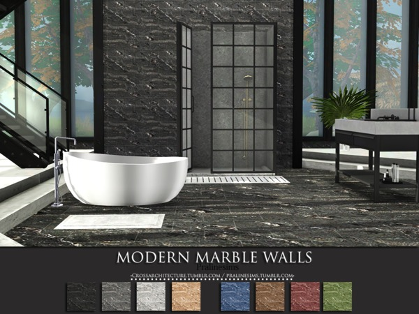 Modern Marble Walls by Pralinesims